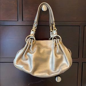 Juicy Couture Gold Metallic Leather Hobo